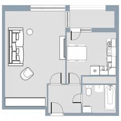 ЖК Квартал «Краски жизни», планировка 1-комнатной квартиры, 41.30 м²