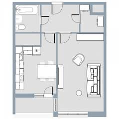 ЖК Квартал «Краски жизни», планировка 1-комнатной квартиры, 42.40 м²