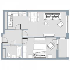 ЖК Квартал «Краски жизни», планировка 2-комнатной квартиры, 49.80 м²