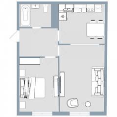 ЖК Квартал «Краски жизни», планировка 2-комнатной квартиры, 49.60 м²