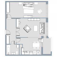 ЖК Квартал «Краски жизни», планировка 2-комнатной квартиры, 60.40 м²