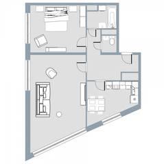 ЖК Квартал «Краски жизни», планировка 2-комнатной квартиры, 71.50 м²