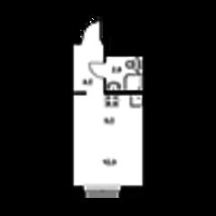 ЖК «Павлова 40», планировка студии, 21.60 м²