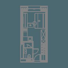 ЖК «YE'S Технопарк», планировка студии, 18.84 м²