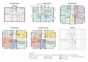 МЖК «Петродворцовая резиденция», планировка 2-комнатной квартиры, 76.30 м²