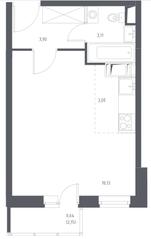 ЖК «Остафьево», планировка студии, 28.78 м²