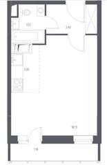 ЖК «Остафьево», планировка студии, 29.33 м²