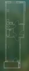 ЖК «Квартал Гальчино», планировка 1-комнатной квартиры, 43.00 м²