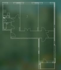 ЖК «Квартал Гальчино», планировка 3-комнатной квартиры, 94.90 м²