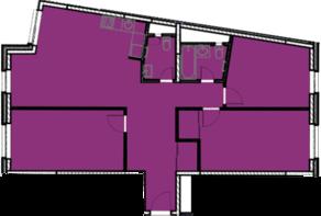 МФК «Nova Алексеевская», планировка 3-комнатной квартиры, 103.87 м²