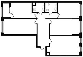ЖК «Гоголь парк», планировка 4-комнатной квартиры, 112.02 м²