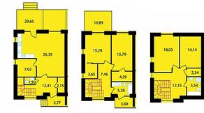 МЖК «Середниково Парк», планировка 4-комнатной квартиры, 174.00 м²