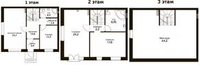 МЖК «Экодолье Шолохово», планировка 5-комнатной квартиры, 166.00 м²