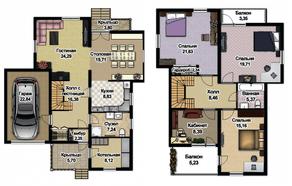 МЖК «Экодолье Шолохово», планировка 5-комнатной квартиры, 208.80 м²