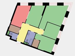 ЖК «Wellton Towers», планировка 4-комнатной квартиры, 104.70 м²