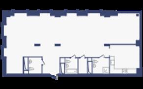 ЖК «Опалиха-Village», планировка студии, 140.92 м²