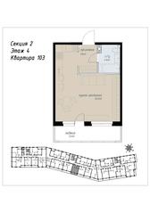 ЖК «Аалто», планировка студии, 36.20 м²