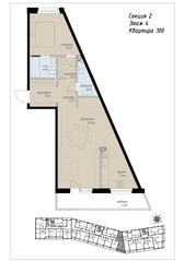 ЖК «Аалто», планировка 2-комнатной квартиры, 66.40 м²
