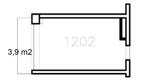 МФК «Co_Loft», планировка студии, 22.70 м²