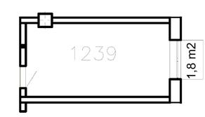 МФК «Co_Loft», планировка студии, 22.30 м²