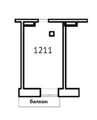 МФК «Co_Loft», планировка студии, 24.04 м²