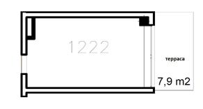 МФК «Co_Loft», планировка студии, 49.30 м²