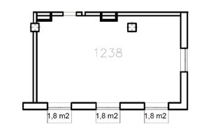 МФК «Co_Loft», планировка студии, 64.10 м²