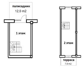 МФК «Co_Loft», планировка студии, 63.90 м²