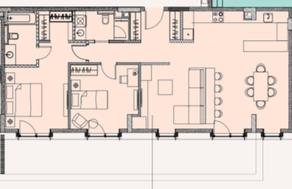 МФК «Soho+Noho», планировка 3-комнатной квартиры, 98.35 м²