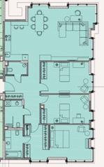 МФК «Soho+Noho», планировка 4-комнатной квартиры, 131.85 м²