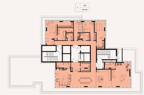 МФК «Soho+Noho», планировка 5-комнатной квартиры, 244.84 м²