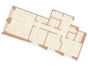 ЖК «Медный 3.14», планировка 3-комнатной квартиры, 102.70 м²