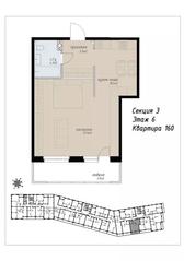 ЖК «Аалто», планировка 1-комнатной квартиры, 51.90 м²