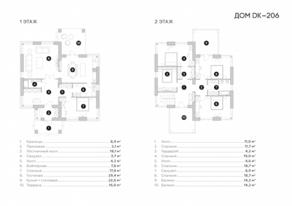 МЖК «Зима & Лето», планировка 5-комнатной квартиры, 206.00 м²