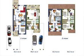 МЖК «Зима & Лето», планировка 5-комнатной квартиры, 100.00 м²