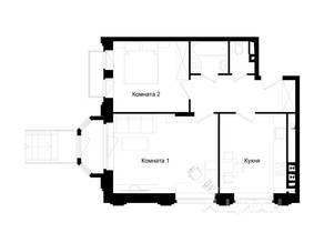 МЖК «Barton», планировка 2-комнатной квартиры, 52.90 м²