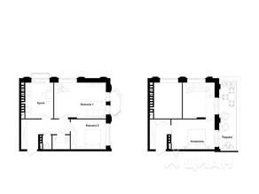 МЖК «Barton», планировка 3-комнатной квартиры, 76.70 м²