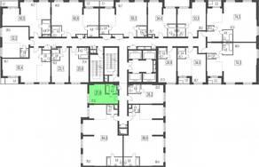 ЖК «Сказочный лес», планировка студии, 21.60 м²