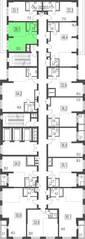 ЖК «Сказочный лес», планировка 1-комнатной квартиры, 29.10 м²