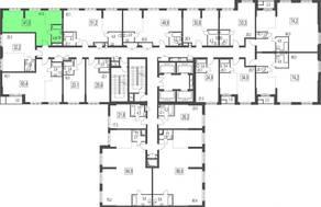 ЖК «Сказочный лес», планировка 2-комнатной квартиры, 41.00 м²