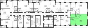 ЖК «Сказочный лес», планировка 3-комнатной квартиры, 65.00 м²