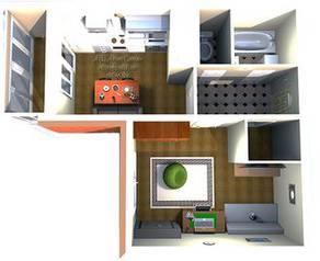 ЖК «Нева Сити» (Кировск), планировка 1-комнатной квартиры, 36.00 м²
