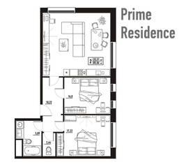 МФК «апарт-отель «Yard Residence», планировка студии, 85.06 м²