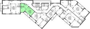 ЖК «Исток», планировка студии, 47.50 м²