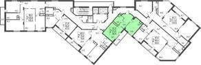 ЖК «Исток», планировка студии, 54.80 м²