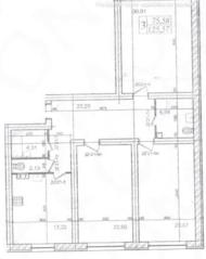 МЖК «Lake парк», планировка 3-комнатной квартиры, 125.57 м²