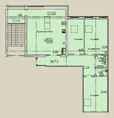 МЖК «Дворянское сословие», планировка 3-комнатной квартиры, 152.20 м²