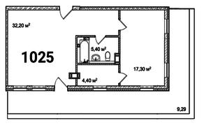МФК «Avenue-Apart на Малом», планировка 2-комнатной квартиры, 68.60 м²