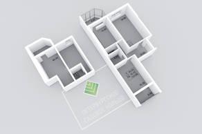 МЖК «Петербургское Садовое кольцо», планировка 2-комнатной квартиры, 123.88 м²
