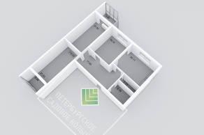 МЖК «Петербургское Садовое кольцо», планировка 3-комнатной квартиры, 119.62 м²